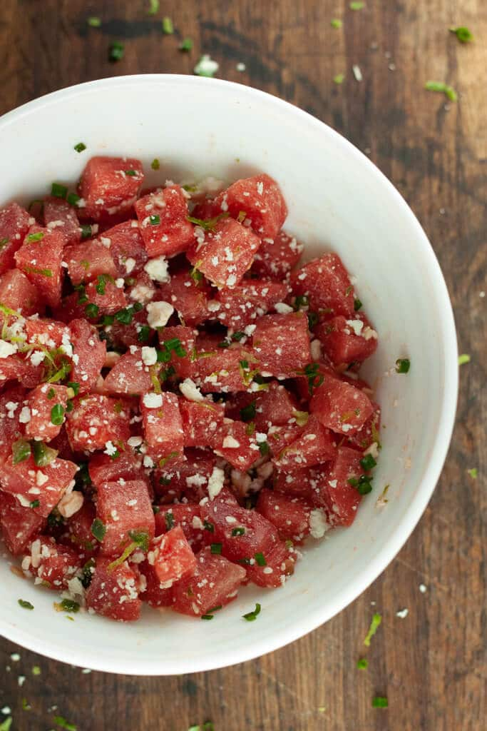 Spicy Watermelon Feta Salad