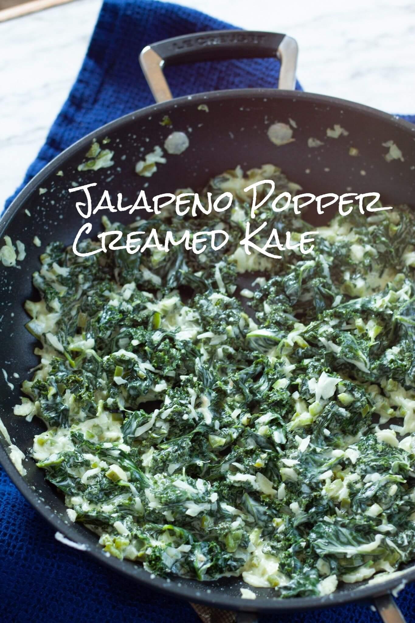 Jalapeno Popper Creamed Kale