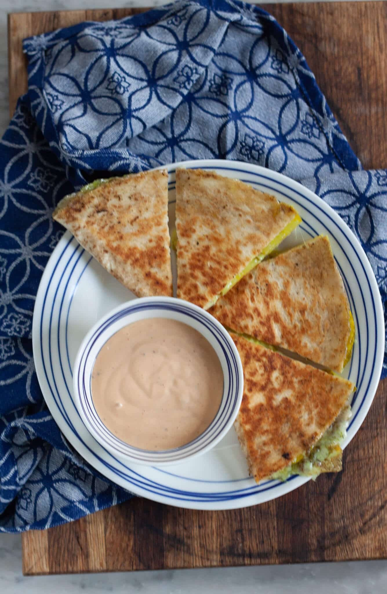 Dill Pickle Quesadilla