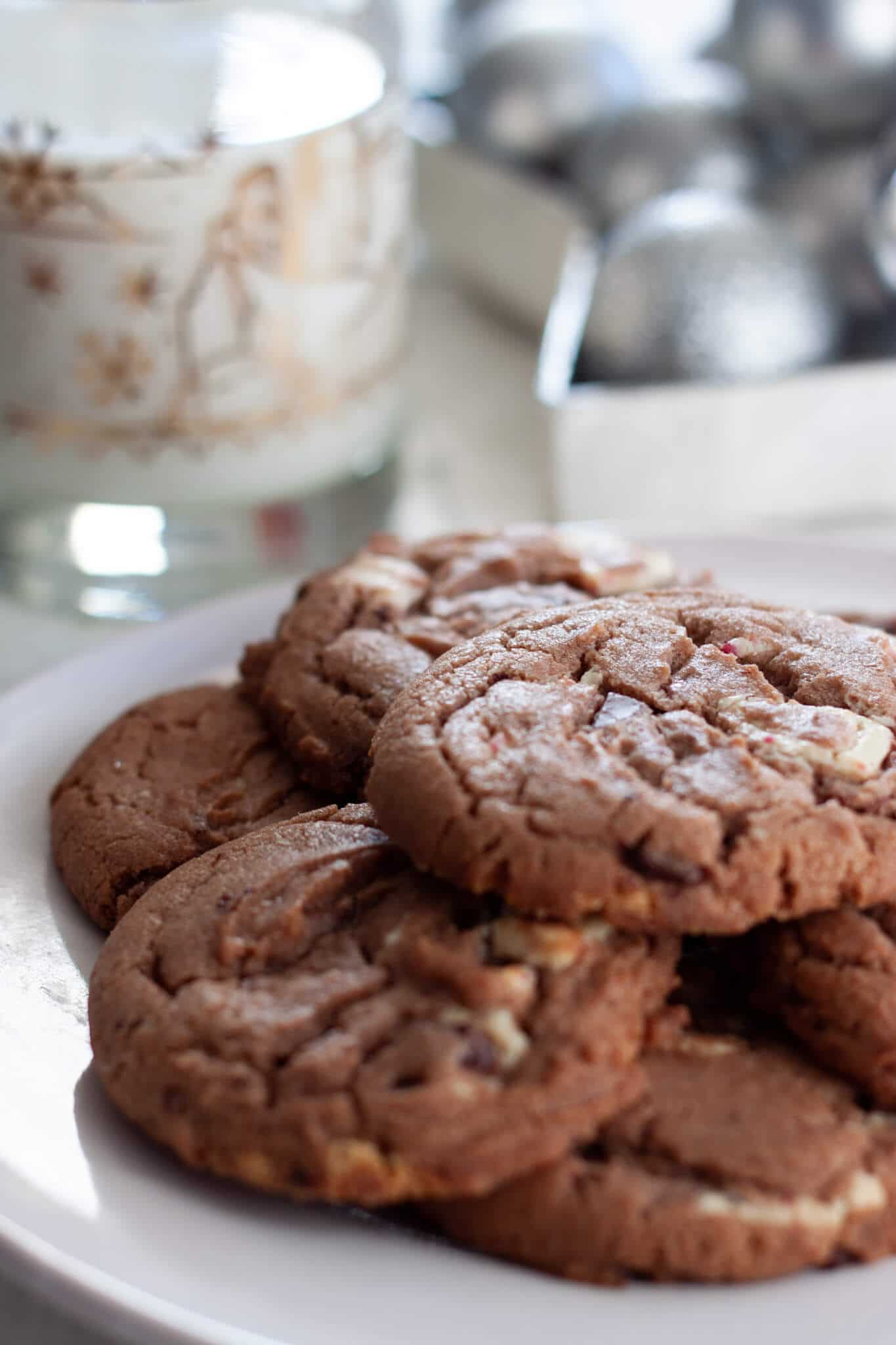 Ghirardelli Peppermint Hot Chocolate Cookies