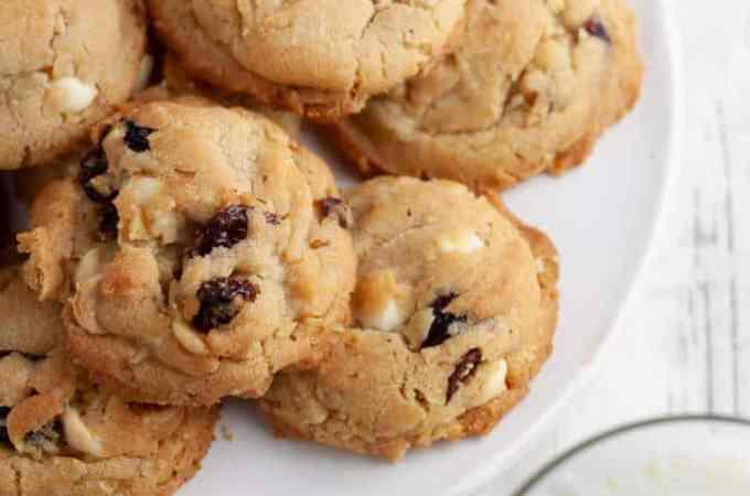 White Chocolate Cranberry Walnut Cookies