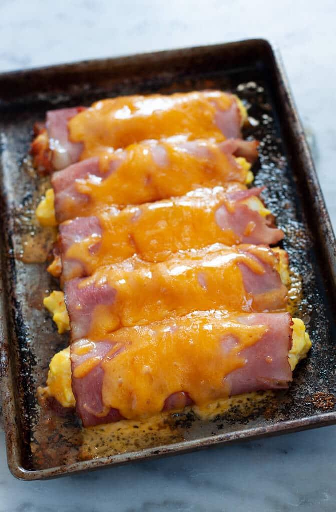 Salsa, Ham, and Egg Roll-Ups