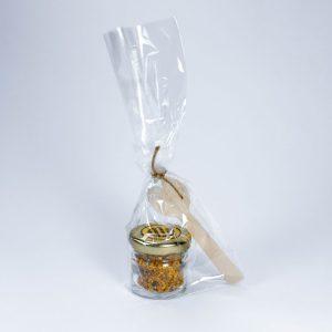 bote minidosis pequeño regalo boda polen cuchara abeja obrera natural puro artesano
