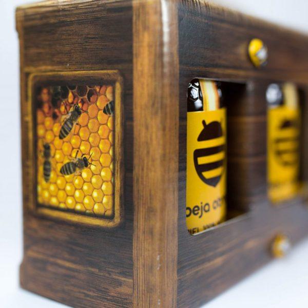 bote tarro pack regalo miel polen natural abeja obrera