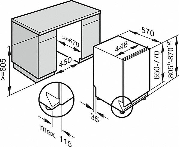 Miele G 4780 SCVi AM Fully-integrated, Slimline dishwasher