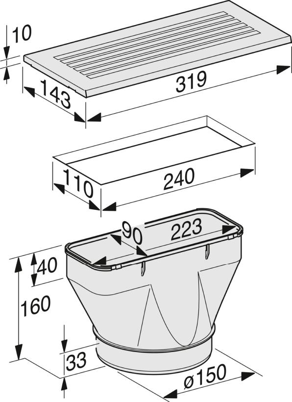 Miele DUU 151 Recirc. conversion kit for DA 3xxx/2xxx
