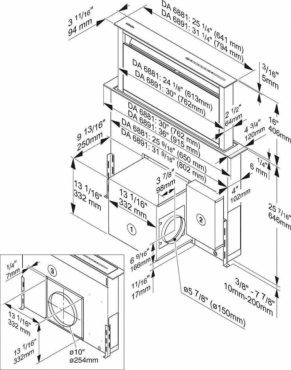 Miele DA 6881 30-inch downdraft extractor