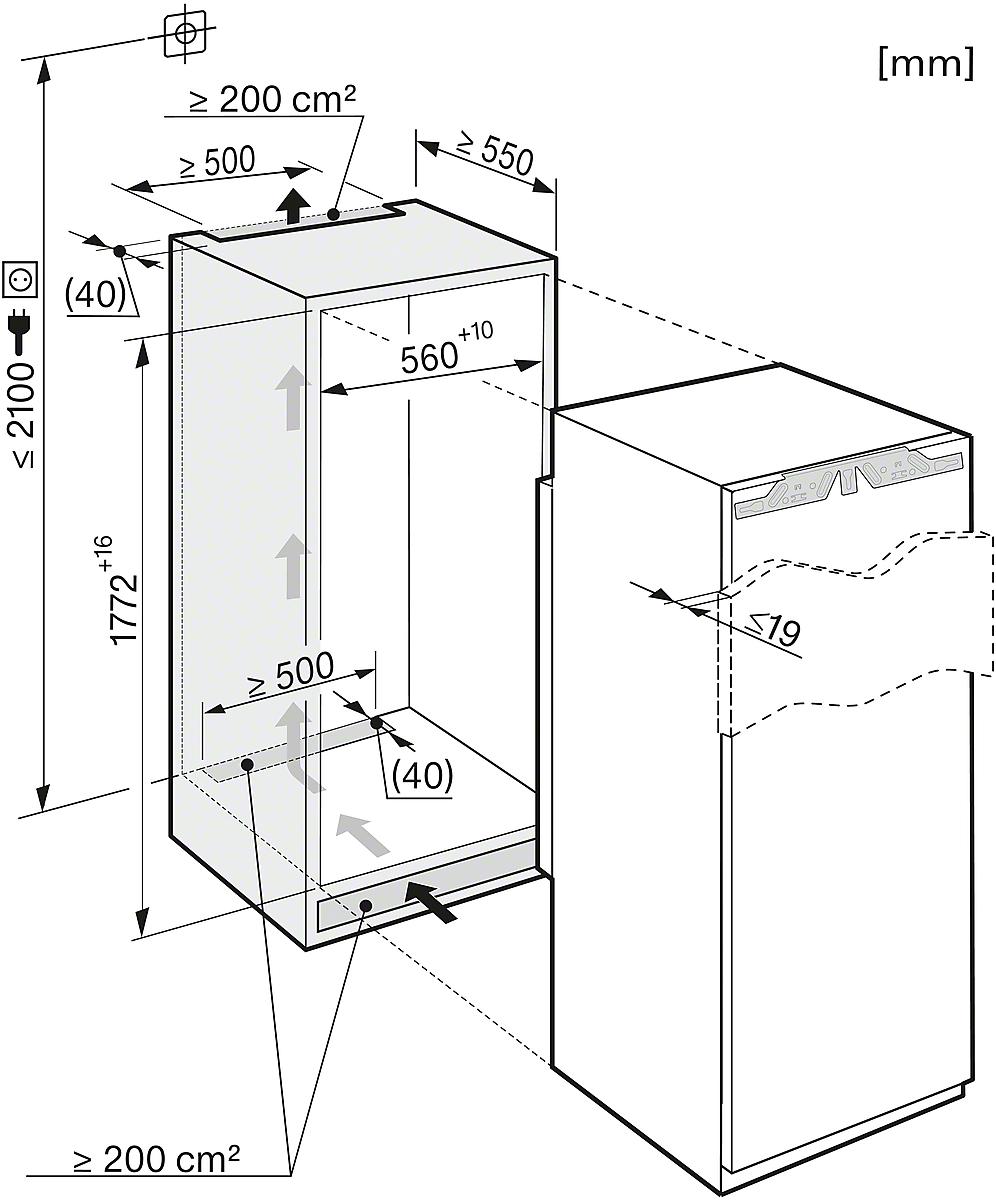 Miele KS 37422 iD Integrated refrigerator