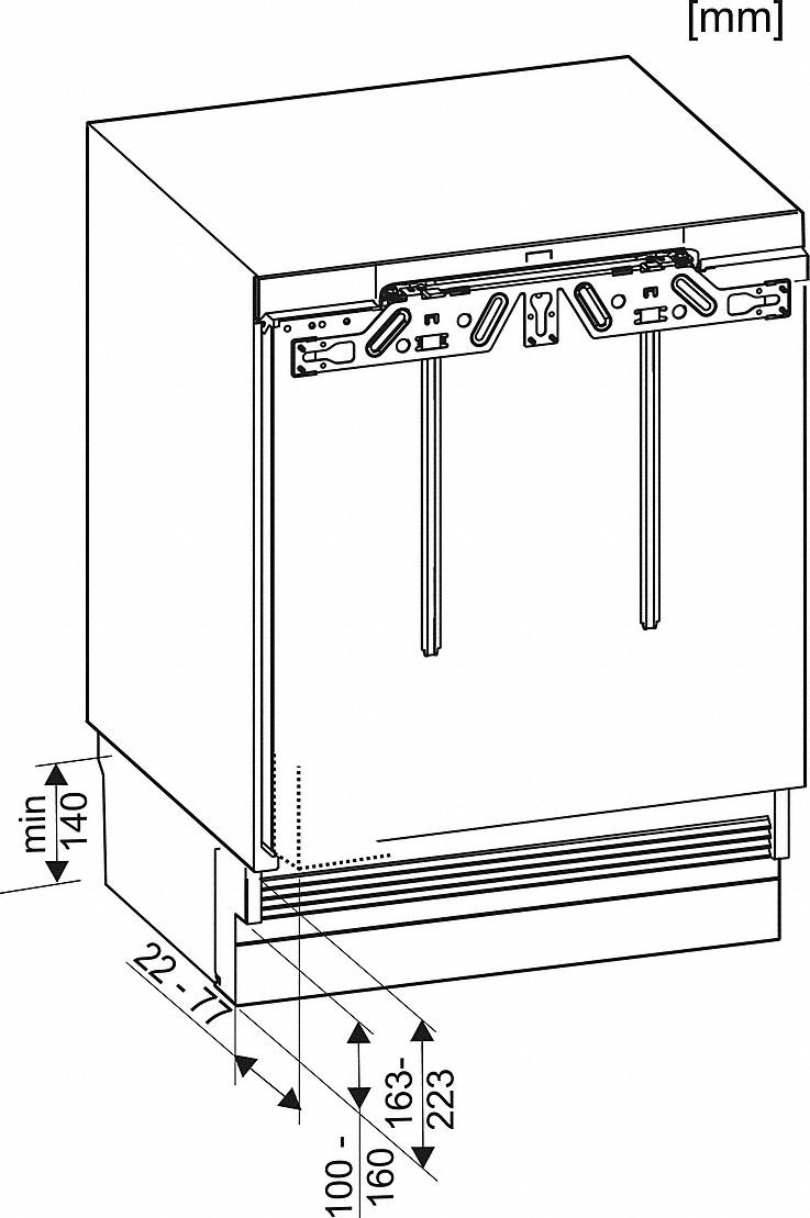 Miele F 31202 Ui Built-under freezer