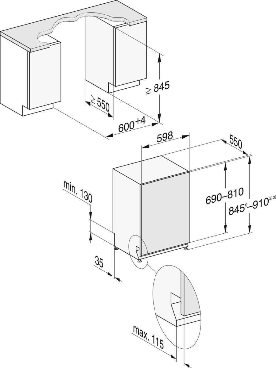 Miele G 7155 SCVi XXL Fully integrated dishwasher XXL