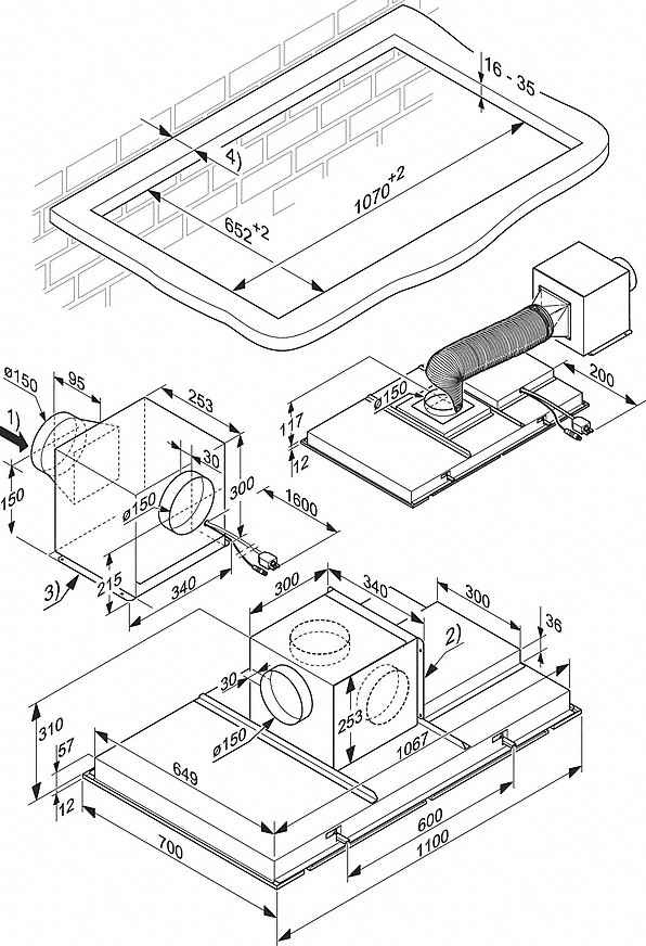 Miele Ceiling Extractor Stainless Steel DA 2906