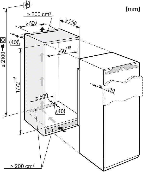 Miele KS 37472 iD Integrated refrigerator