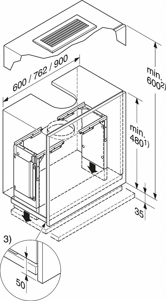 Miele DAR 3000 Drop-down frame