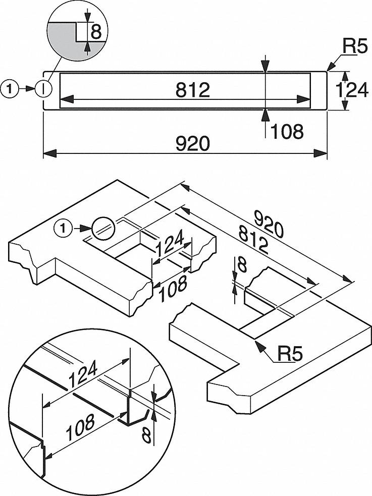 Miele DA 6890 Levantar Downdraft extractor system