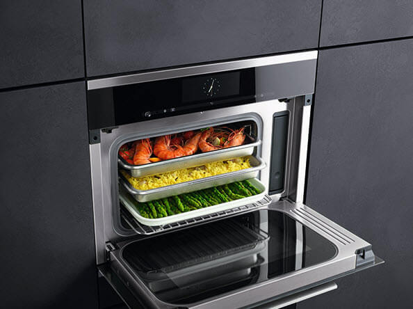 miele creates built in steam oven with
