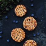 Blueberry cheese pies