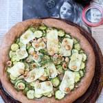 Focaccia integrale con zucchine, brie e sciroppo d'acero