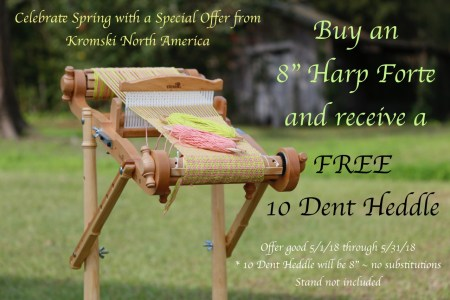 "Now through the end of May! Free Reed with purchase of 8"" loom."