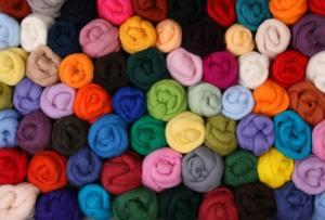 New Zeanland Corriedale Roving in Various Colors