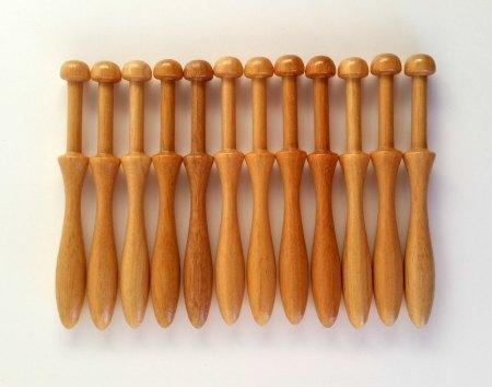 12 bobbin lace bobbins