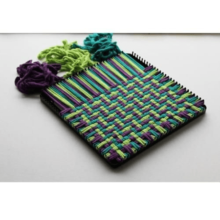 """Weave generous 8.25"""" x 8.25"""" pot holders with the Potholder PRO Loom."""