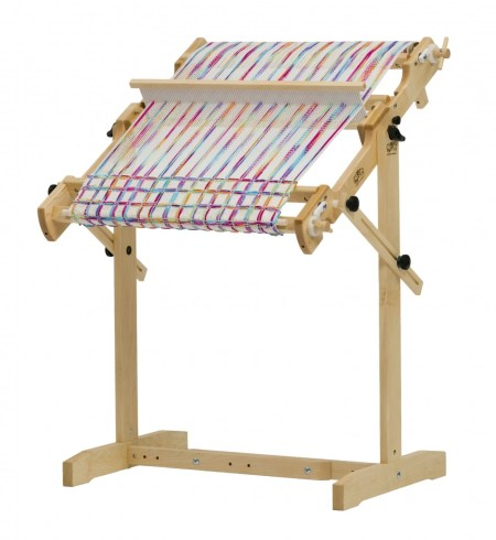 Trestle stand. Shown with Flip loom, also works with Tapestry loom.