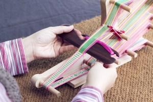 Weaving on the Ashford Inklette Loom with belt shuttle