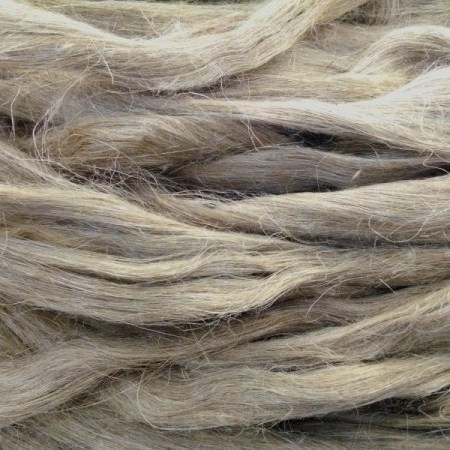 Super fine water retted flax fiber