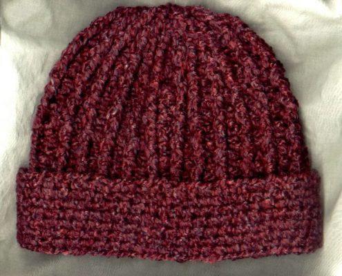 Crocheted Rib Hat