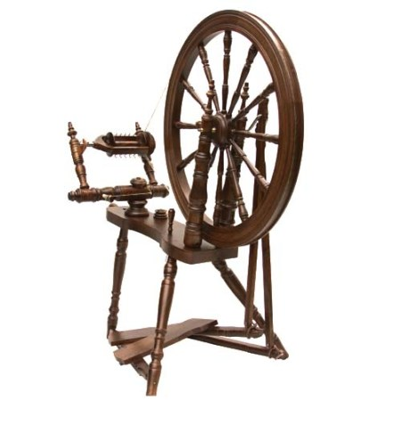 Symphony Spinning Wheel Walnut Finish