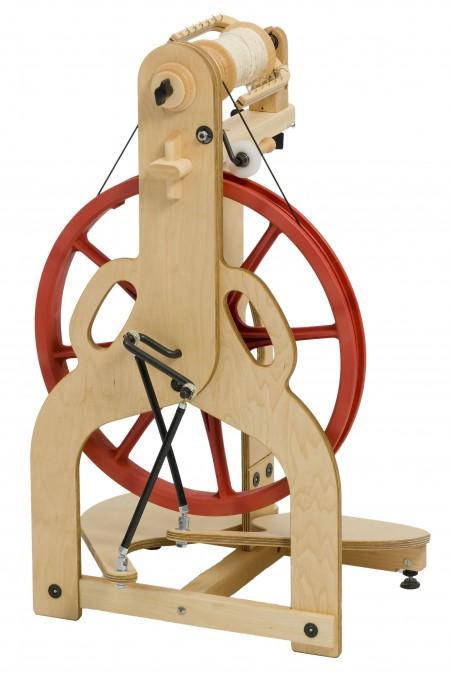 Back view of Ladybug spinning wheel