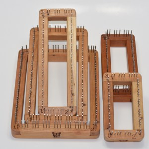 An assortment of oblong pin looms
