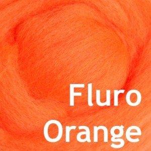 Fluro Orange spinning roving