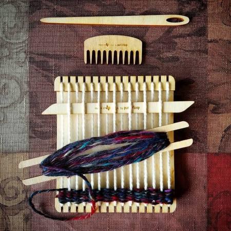 Wee weaver in action!