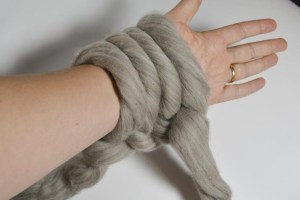 Casting on with Arm Knitting