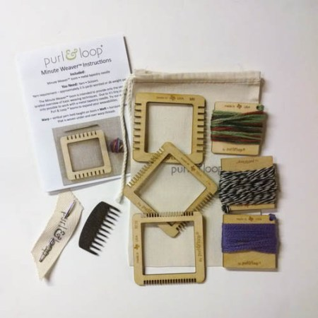 Minute Weaver 3 pack plus yarn bag and weaving comb!