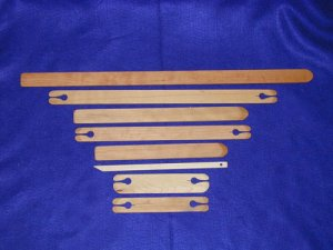 Beka Weaving Shuttles and Pickup Sticks