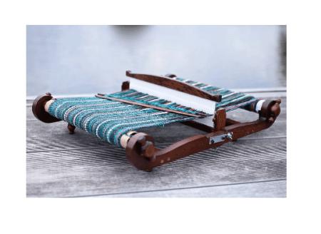 Walnut Finish Harp Loom