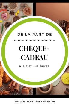 """Image Chèque cadeau """"Miels et une épices"""""""