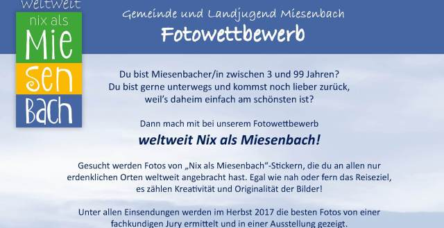 Fotowettbewerb #weltweitnixalsmiesenbach