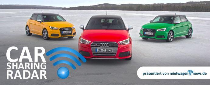 Carsharing-Radar mit Audi select Carsharing