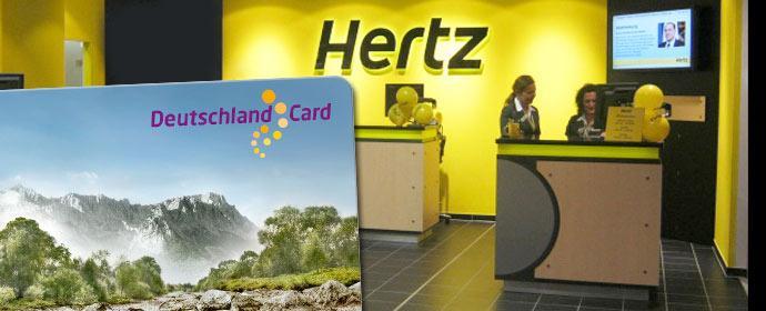 Hertz kooperiert weiter mit Deutschland Card