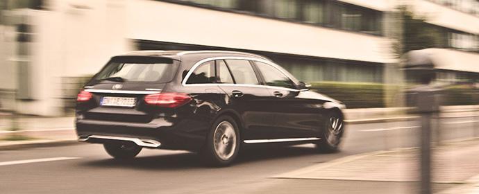 Ein Kombi für Fahrspaß, Luxuriöses Gleiten und Transportaufgaben: Mercedes-Benz C-Klasse T-Modell von Hertz