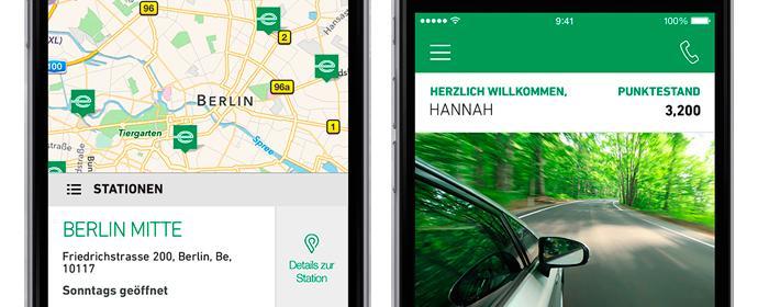 Enterprise Rent a Car mit neuer App