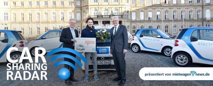 CarsharingRadar - car2go begrüßt in Stuttgart den 50.000sten Kunden im elektrischen Carsharing