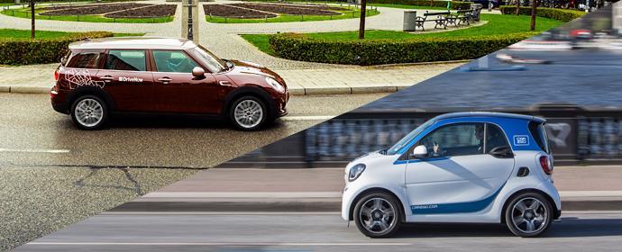 Neue Autos braucht das Land - Mini Clubman bei DriveNow und neue Smarts bei car2go