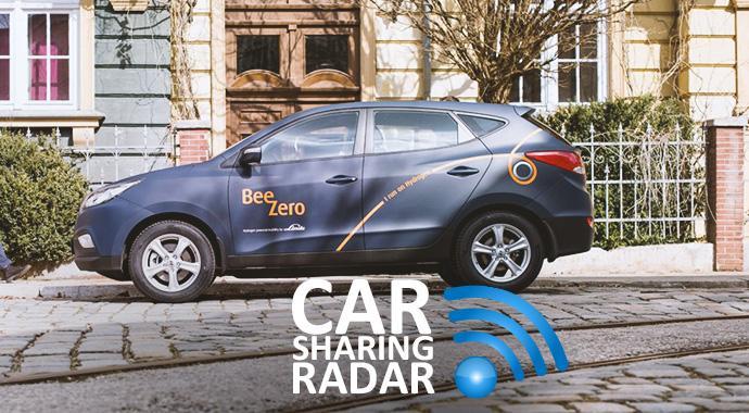 CarsharingRadar - Carsharing mit Hyundai ix35 Wasserstoffautos von Linde in München