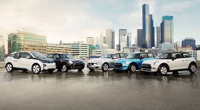 BMW und DriveNow bringen mit ReachNow einen neuartigen Carsharing-, Mietwagen- und Fahrservice nach Seattle - Ausweitung geplant
