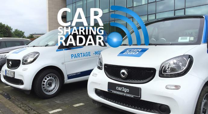 Carsharingradar - Wenn Carsharing Parkplätze belegt und dadurch Parkplätze schafft
