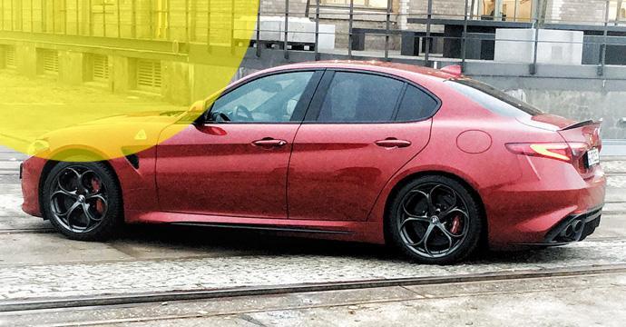 Hertz flottet die Alfa Romeo Giulia Quadrifogiomit 510PS in der Schweiz ein